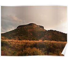 Black Mesa at Sunset Poster