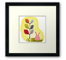Pink Rabbit Framed Print