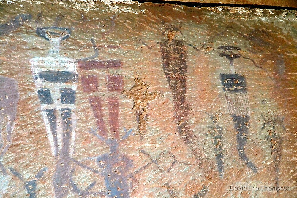 Barrier Canyon Pictographs by David Lee Thompson