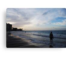 Man On Beach Canvas Print
