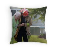 Don't Look Behind You, BBQ Gone Bad Throw Pillow