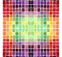 Watercolor Mixing Chart Photographic Print