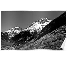 B&W Mountain Range Poster