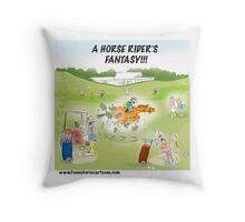Horse Rider's Fantasy Throw Pillow