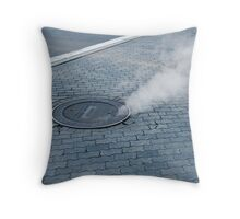 Steaming Hot Throw Pillow