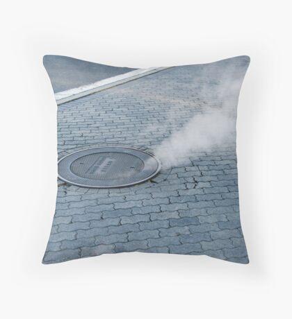 Steaming Hot Throw Pillow