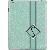 1920s Blue Deco Swing with Monogram letter S iPad Case/Skin