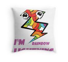 Rainbow in Lightning Throw Pillow
