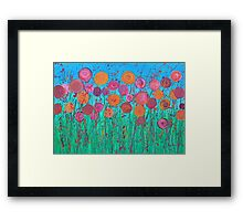 Abstract Flower Painting Framed Print