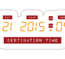 Back to the Future Oct 21, 2015 4:29 DeLorean Numbers Sticker