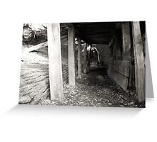 Tunnel support Greeting Card