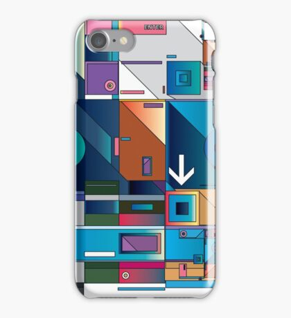 Abstract Art geometrical colors iPhone Case/Skin
