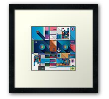 Abstract Art geometrical colors Framed Print