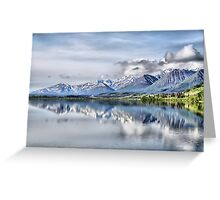 Somewhere near Haines, AK. Greeting Card