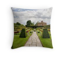 Formal gardens at Hampton Court Throw Pillow