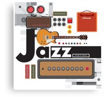 I love jazz 1 Canvas Print