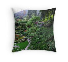 Sunken Garden No.1 Throw Pillow
