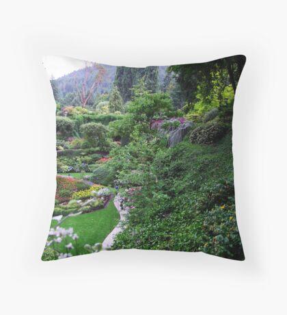 Sunken Garden No.1 Throw Pillow
