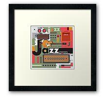 I love jazz 2 Framed Print