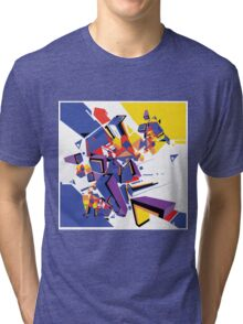Abstract Art geometrical colors Tri-blend T-Shirt