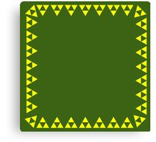 Triforce Scarf and Skirt Canvas Print