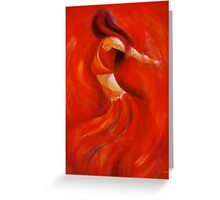 dancing flame Greeting Card