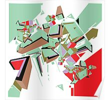 Abstract Art geometrical colors Poster