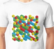 colorfull blocks pattern Unisex T-Shirt