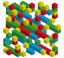 colorfull blocks pattern Photographic Print