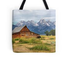 Barn in Grand Tetons Tote Bag