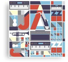 I love jazz 3 Canvas Print