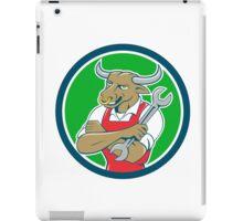 Bull Mechanic Spanner Standing Circle Cartoon iPad Case/Skin