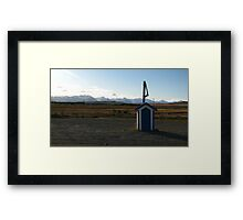 Blue Postbox Landscape Framed Print
