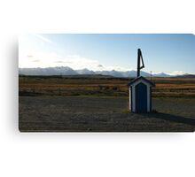 Blue Postbox Landscape Canvas Print