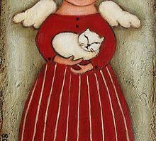 """Angel Doll w/ White Cat"" by GraceG"