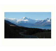 Road to Mt. Cook Art Print