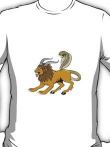 Chimera Attacking Side Cartoon T-Shirt