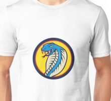 Cobra Viper Snake Head Attacking Circle Cartoon Unisex T-Shirt