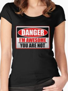 Danger I'm Awesome Women's Fitted Scoop T-Shirt
