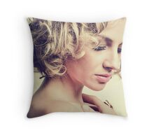 Breaking Quietly Throw Pillow