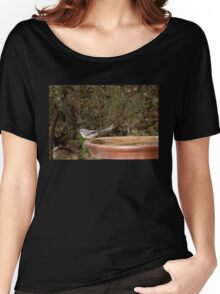 'Grey Fantail!'  Another Autumn Visitor. 'Arilka' Adelaide hills. Women's Relaxed Fit T-Shirt