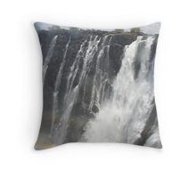 Victoria Falls rainbow Throw Pillow