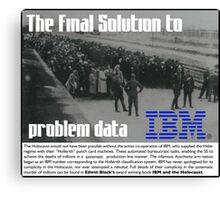 IBM & the Holocaust Canvas Print