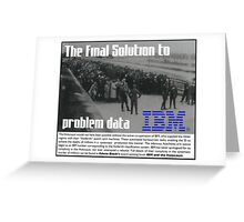 IBM & the Holocaust Greeting Card