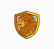 Angry Lion Head Roar Shield Cartoon Unisex T-Shirt