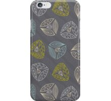 Fun Leaves with Gumnuts Grey iPhone Case/Skin