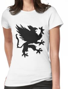 Heraldic griffin Womens Fitted T-Shirt
