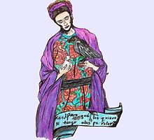 frida with birds. by Jessica Garcia