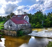"""Old Green Mill,  At Falls Of The Rough, Kentucky"" by Melinda Stewart Page"