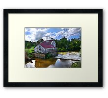 """Old Green Mill,  At Falls Of The Rough, Kentucky"" Framed Print"